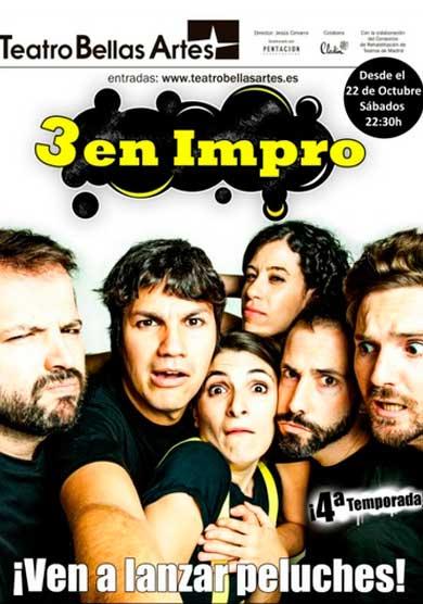 3 en Impro → Teatro Bellas Artes