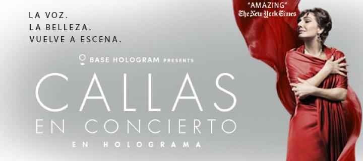 Callas en concierto - en holograma