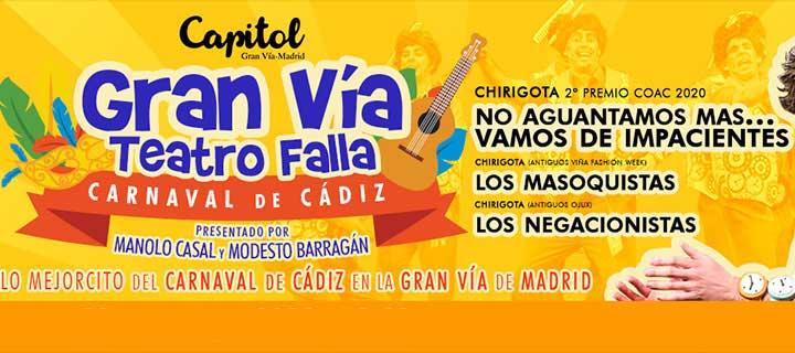 Descuentos para 'El Carnaval de Cádiz' en el Teatro Capitol Gran Vía